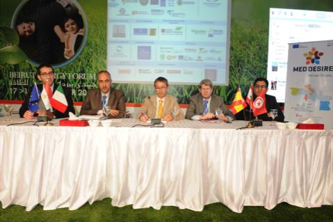 MED-DESIRE partnership during the Beirut Energy Forum 2014