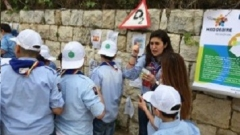 Awareness raising activities with Champville Scouts in Lebanon