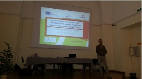 Green economy education event at Panetti High School (Italy)