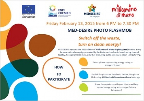 MED-DESIRE photo flashmob: switch off the waste, turn on clean energy!
